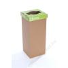Szelektív hulladékgyűjtő, újrahasznosított, 60 l, RECOBIN Slim, zöld (URE003)