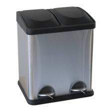 Szelektív szemetes kuka, műanyag, 2x15 l szemetes