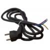 Szerelhető hálózati vezeték 3x1,0mm 3m-es (fekete)