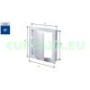 Szerelőajtó, DT11, ellenőrző ajtó, műanyag, fehér, 150 x 200 mm