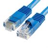 Szerelt patch kábel UTP Cat5e 0,5 m PVC KÉK
