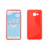Szilikon tok, Samsung Galaxy A3 (2016) A310, védőtok, S-LINE, korall piros