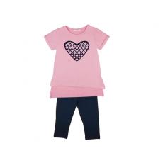 Szív Lányka 2 részes szív mintás póló/leggings szett