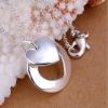 Szívben szív ezüstözött nyaklánc