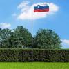 Szlovén zászló alumíniumrúddal 6,2 m