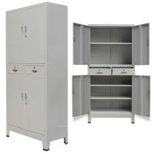 szürke 4 ajtós acél irodai szekrény 90 x 40 180 cm irodabútor