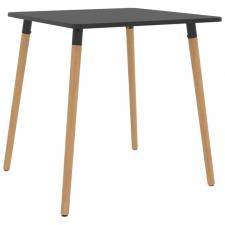 Szürke fém étkezőasztal 80 x 80 x 75 cm bútor