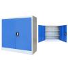 szürke/kék fém irodaszekrény 90 x 40 x 90 cm