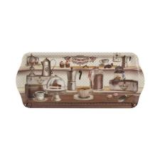 . Tálca, műanyag, mintás, 33*14,5*2,5cm konyhai eszköz