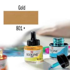 Talens Ecoline folyékony akvarell festék, 30 ml - 801, gold akvarell