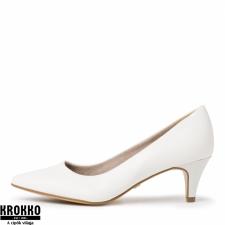 Tamaris 001-22495-34-140 fehér alkalmi körömcipő női cipő