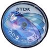 TDK DVD-R írható DVD lemez, 4.7GB, 16x (10db/csomag) CakeBox