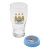 Team szurkolói üvegpohár - Team Pint Glass and Opener Man City