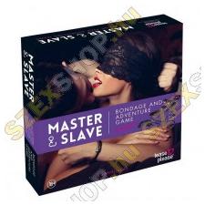 Tease & Please Master és Slave  kötözős játék szett - lila-fekete bilincs, kötöző