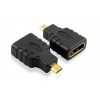 Techly Adapter Micro-D HDMI --> HDMI M/F fekete