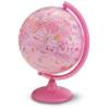 Technodidattica Földgömb gyerekeknek, állatvilág tematikás gyerek világító földgömb 25 cm Pink Zoo rózsaszín gömb