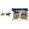 Teddies 2db ló + zsoké farm kiegészítőkkel készlet