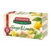 "TEEKANNE Gyümölcstea, 20x1,75 g, TEEKANNE ""World of Fruits"", gyömbér-citrom"
