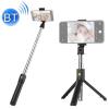 Telealk Selfie bot és állvány mobiltelefonhoz, állítható, bluetooth, távirányítós (fekete)