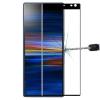 Telealk Sony Xperia 10 Plus kijelzővédő üvegfólia (9H, 3D, fekete)