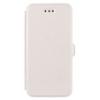 Telone Book Pocket oldalra nyíló fényes bőrbevonatos támasztós fliptok Sony E6833, E6853 Z5 Premium-hoz fehér*