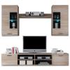 Tempo Frontal 2 komplett nappali szekrénysor LED világítással