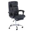 Tempo Irodai szék, fekete textilbőr PU, ARNAUD NEW