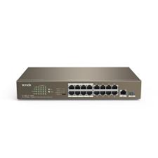 Tenda 10/100Mbps 16 portos PoE switch (TEF1118P-16-150W) hub és switch
