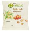 Tesco BIO gluténmentes, földimogyorós ízesítésű, extrudált kölesgolyó 75 g