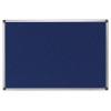. Textiltábla, 200x120 cm, alumínium keret, kék