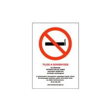 Tilos a dohányzás / No smoking - PVC tábla információs címke