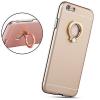 Tok, aluminium hátlap, szilikon kerettel, gyűrűs ujjtartóval és kitámasztóval, Apple iPhone 6 Plus, arany, prémium minőség