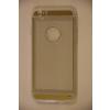 Tok, átlátszó szilikon tok, Apple iPhone 6 / 6S, arany kockás minta, csomagolás nélkül