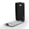 Tok, flip tok, Samsung Galaxy A8 A800, fekete, flexi, csomagolás nélküli