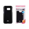 Tok, Mercury Jelly, szilikon, (csillámporos), Samsung Galaxy Note 4 N900, fekete