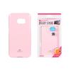 Tok, Mercury Jelly, szilikon, (csillámporos), Samsung Galaxy S7 G930, halvány rózsaszín