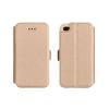 Tok, oldalra nyíló flip tok, Huawei Mate 8, arany, flexi, csomagolás nélküli