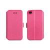 Tok, oldalra nyíló flip tok, Huawei P8 Lite, rózsaszín, flexi, csomagolás nélküli