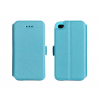 Tok, oldalra nyíló flip tok, LG K3, kék, flexi, csomagolás nélküli
