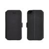 Tok, oldalra nyíló flip tok, LG X Power, fekete, flexi, csomagolás nélküli