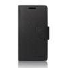 Tok, Telone Fancy oldalra nyíló flip tok, szilikon belsővel, Apple iPhone 6 / 6S, fekete, csomagolás nélküli