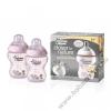 Tommee Tippee Közelebb a természeteshez BPA-mentes cumisüveg duo 260ml színes pink