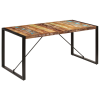 tömör újrahasznosított fa étkezőasztal 160 x 80 x 75 cm