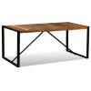 tömör újrahasznosított fa étkezőasztal 180 cm