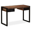 tömör újrahasznosított fa íróasztal 2 fiókkal 120 x 50 x 76 cm