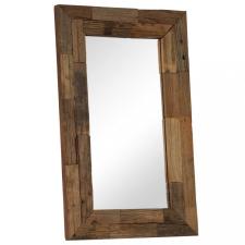 Tömör újrahasznosított fa keretű tükör 50 x 80 cm bútor