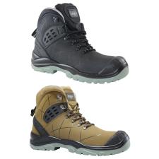 TOP TS 4949 S3 SRC védőbakancs, kompozit orrmerevítő, kevlár talplemez, nubuk bőr felsőrész, fekete, 46 munkavédelmi cipő