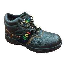 TOP WORK S3 munkavédelmi bakancs, acél orrmerevítő és talplemez, bőr felsőrész, PU talp, fekete, 44 munkavédelmi cipő