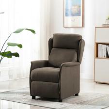 Tópszínű szövet dönthető háttámlás masszázsfotel bútor