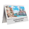 TOPTIMER Európa, képes álló papírtáblás asztali naptár T063